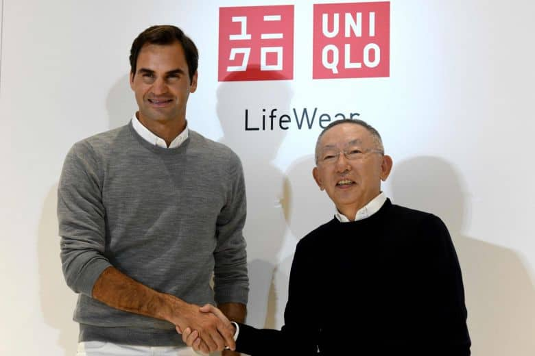 Roger Federer signing with Uniqlo